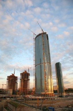 Building of the skyscraper