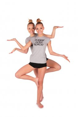 Twin sport girl like Sheva