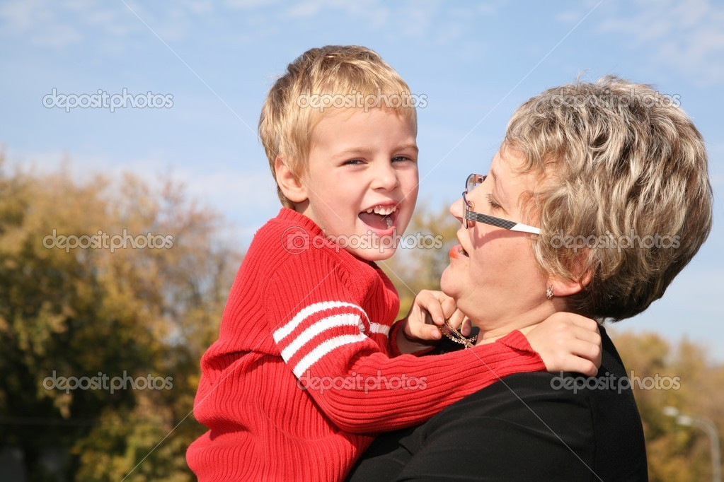 Grandmother with the grandson 2