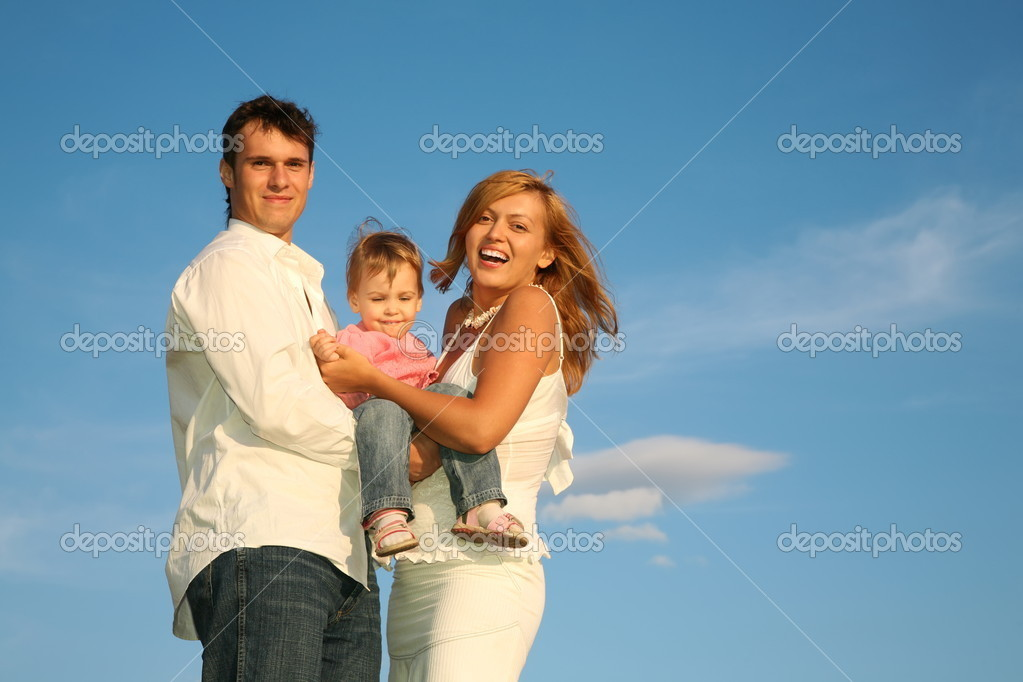 Child with the parents