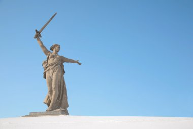 Volgograd monument winter