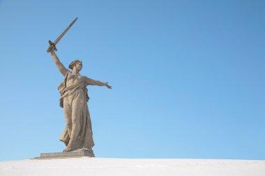 Volgograd monument winter