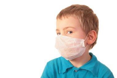 Boy in respirator