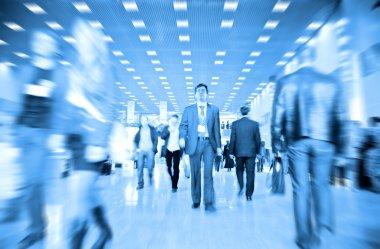Business motion blur stock vector