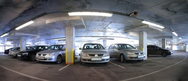 Panorama of car parking