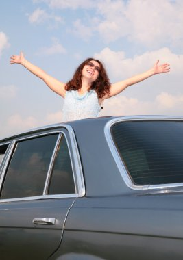 Woman & car