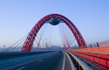 New guyed bridge on Moscow river