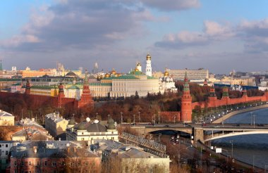 View on Moscow and Kremlin