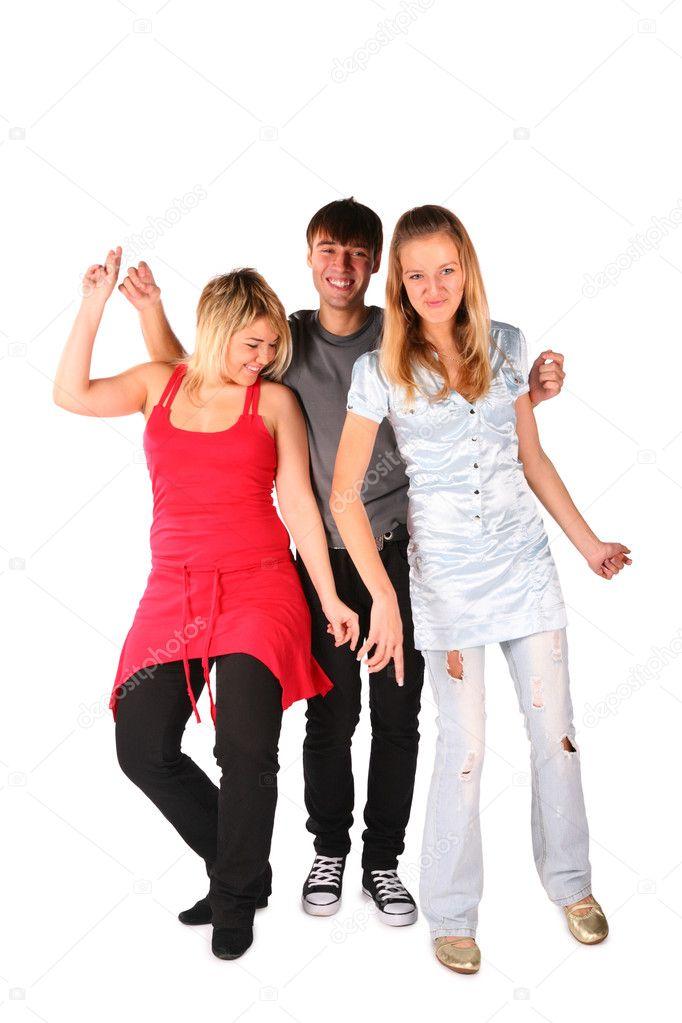 диване две девушки и парень танцуют сразу заподозрила неладное