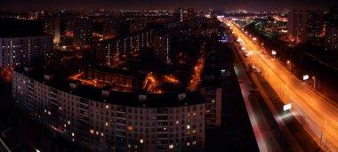 Panorama of night city
