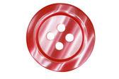 tmavě červené tlačítko pro oblečení izolovaných na bílém pozadí