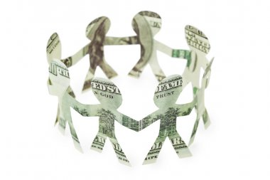 Dollars little cutouts dance in ring