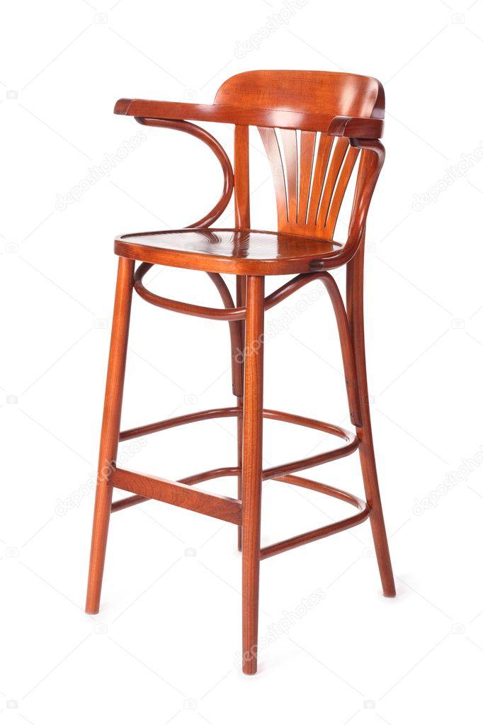Ouderwetse Houten Kinderstoel.Enkele Oude Houten Kinderstoel Stockfoto C Paha L 7937955