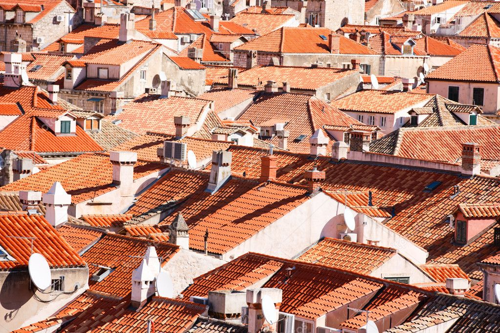 Dubrovnik old town red roofs