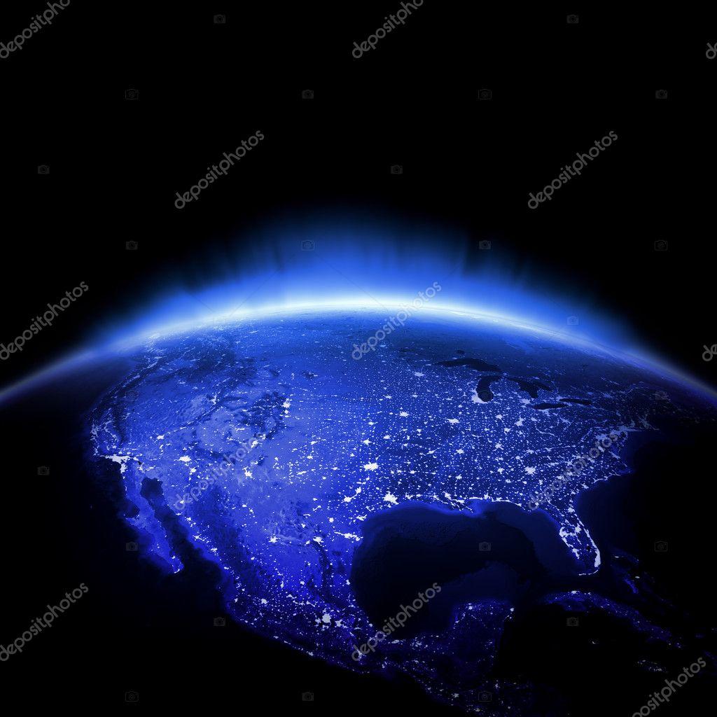 USA city lights