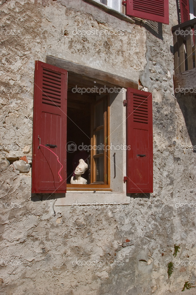 Dummy in a window