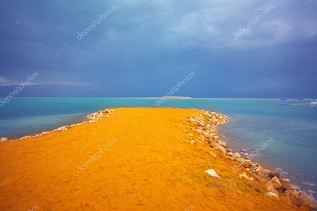 Storm on the Dead Sea.