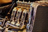 Fotografia motore a benzina di proprietà moto