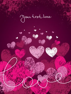 Card of valentine day clip art vector