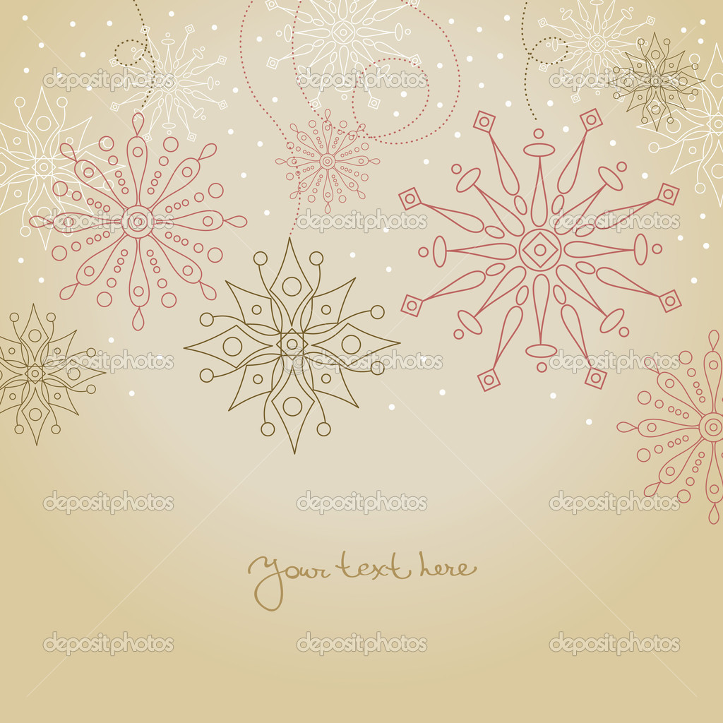 Vintage Christmas background — Stock Vector © pimonova #7316839