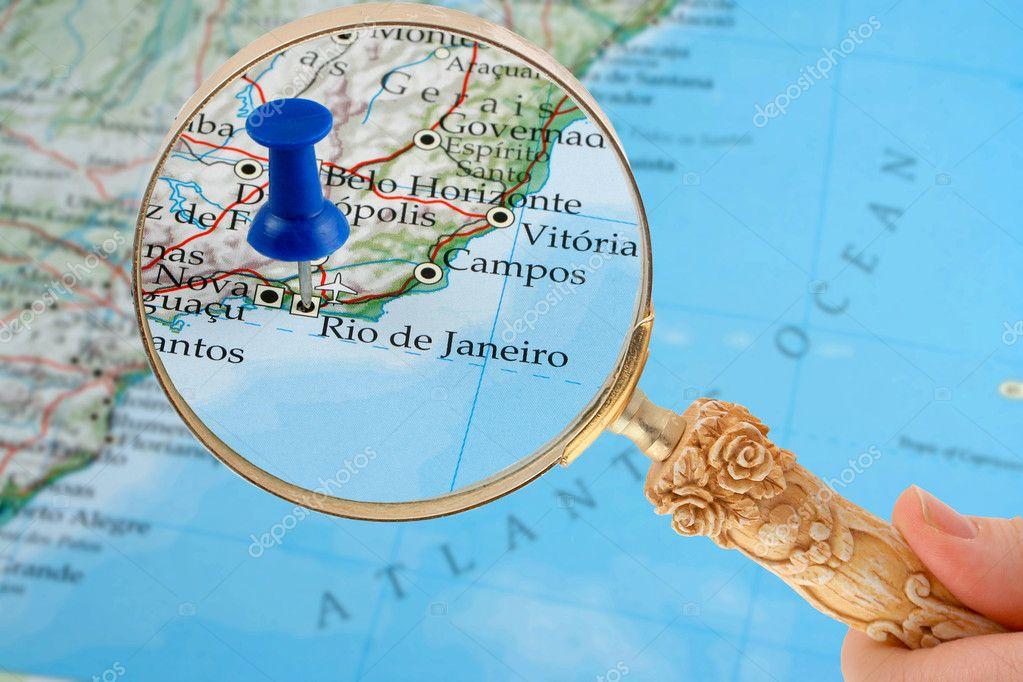 Rio De Janeiro Map Stock Photo C Gvictoria 6751855