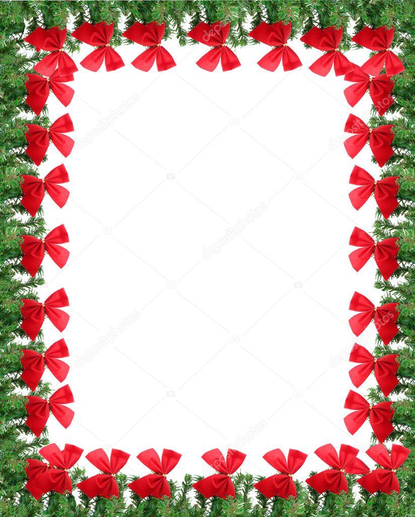 frontera de la tarjeta de felicitación de Navidad — Fotos de Stock ...