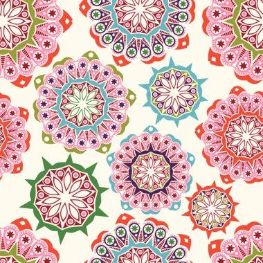 Ornate flowers seamless texture,endless pattern