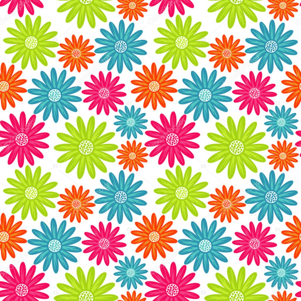 Bright floral seamless texture, endless pattern with ...
