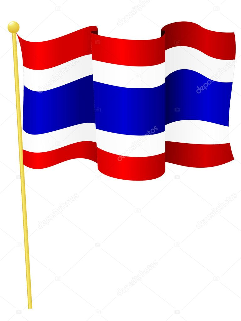 Vector illustration of the flag Thailand