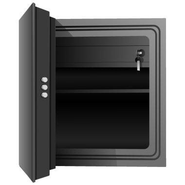 Open the safe. Vector