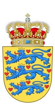 Vector image of the national emblem of Denmark