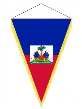 Vector pennant with the national flag of Haiti