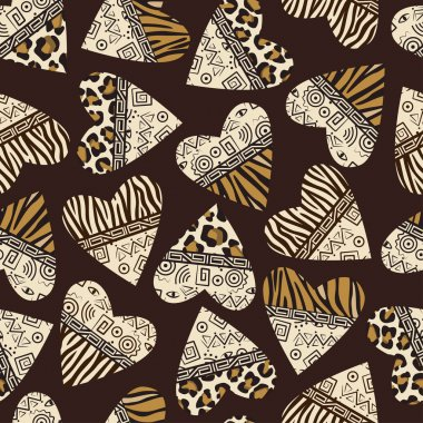 Stylish african seamless background