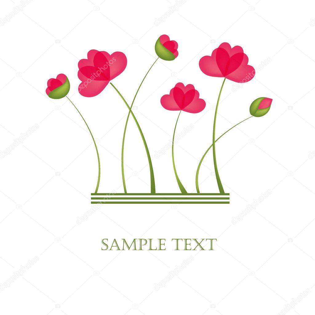 poppy flowers design for greeting card u2014 stock photo mcherevan