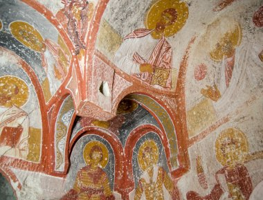 "Картина, постер, плакат, фотообои ""Древняя фреска в Каппадокии Турция"", артикул 7061388"