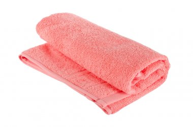 The color towel isolated on white