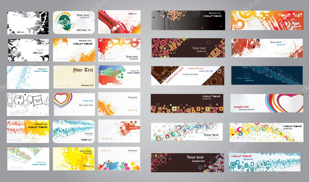 Mix collection business cards and banners stock vector amitofo mix collection business cards and banners stock vector colourmoves