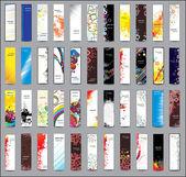 kolekce svislé bannery