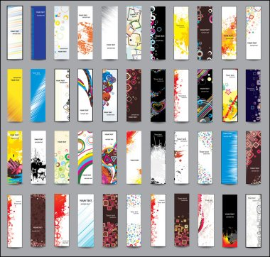 Collection Vertical banners clip art vector