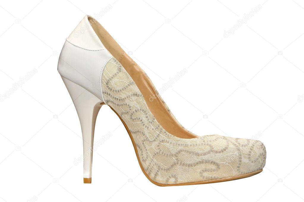 db726089ac9 παπούτσια λευκό γάμους — Φωτογραφία Αρχείου © nikolasvn #7298654