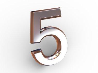Five. 3d stock vector