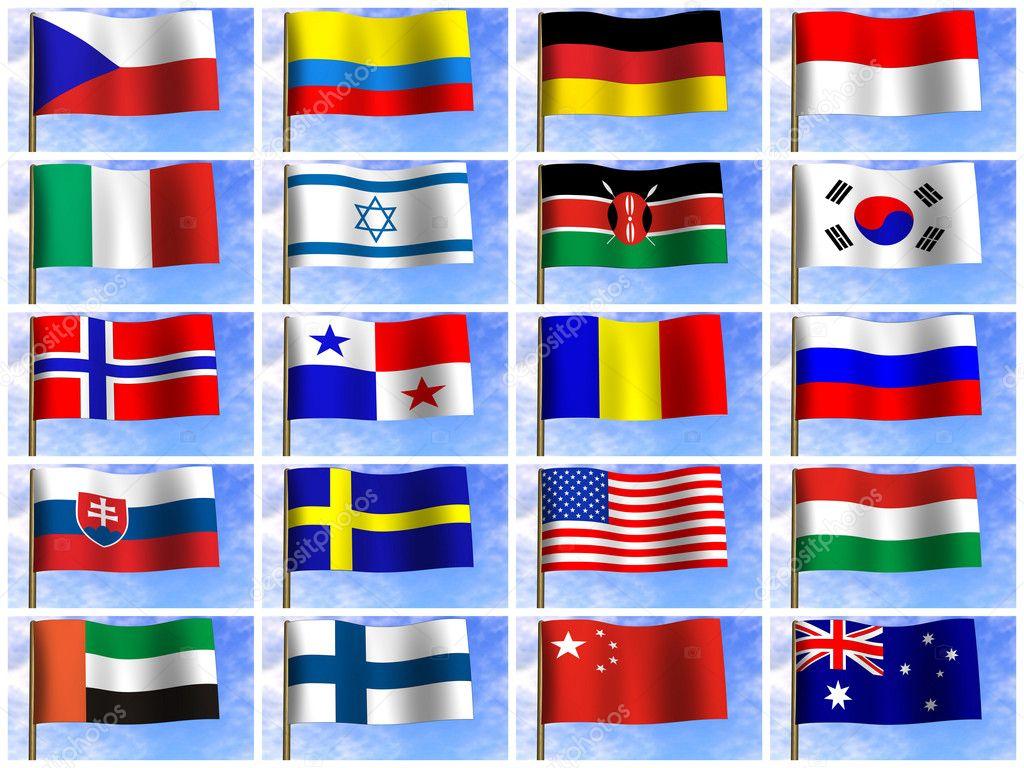 Картинки название разные флаги