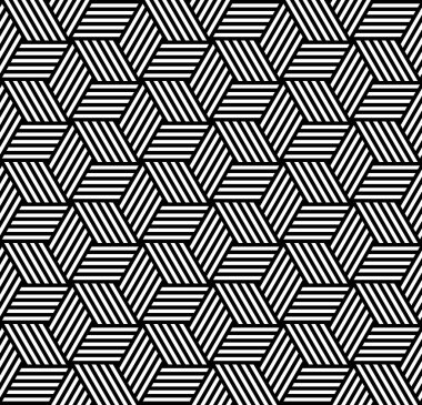 Seamless geometric pattern in op art design.