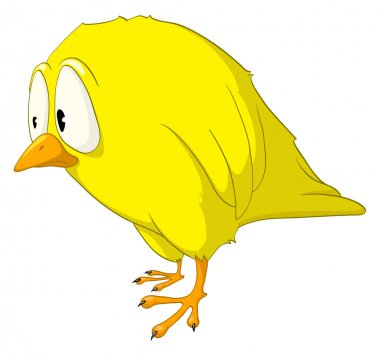 Cartoon Character Melancholy Bird