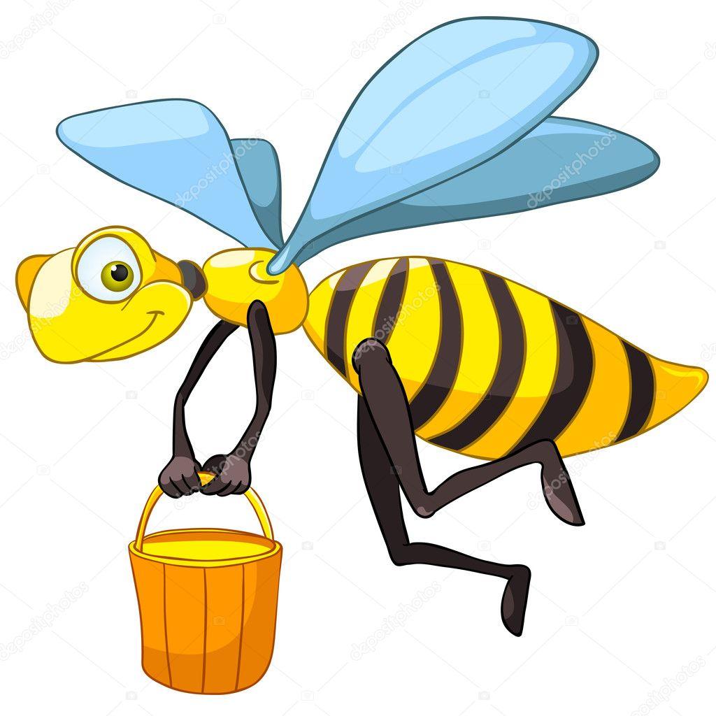 cartoon character bee u2014 stock vector rastudio 7712999