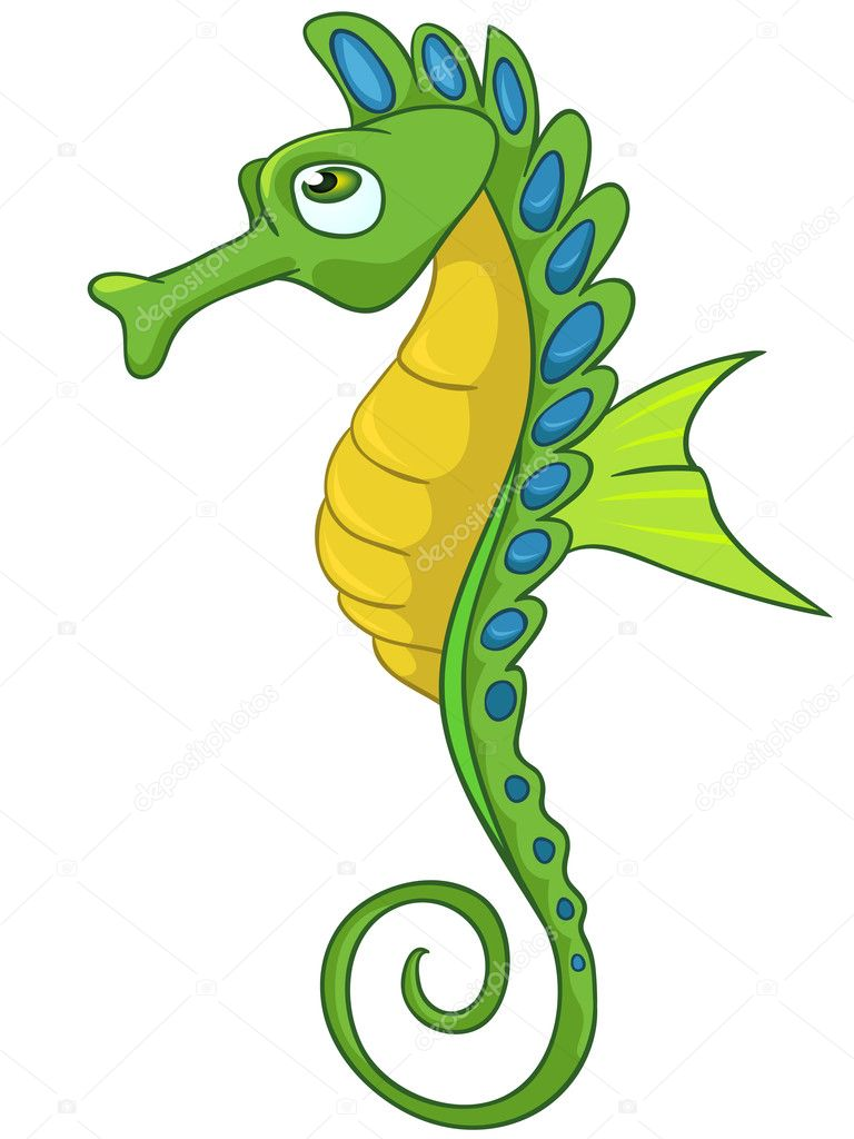ᐈ Cartoon Seahorse Stock Cliparts Royalty Free Cartoon Sea Horse Pictures Download On Depositphotos