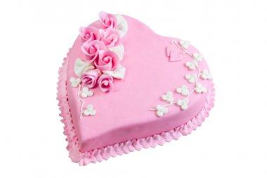 Pink cake heart