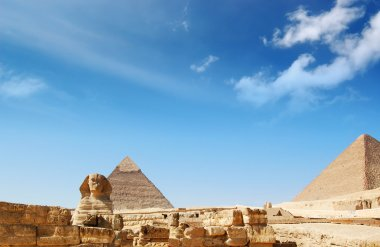 Egypt pyramid and sphinx
