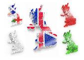 trojrozměrná mapa Velké Británie