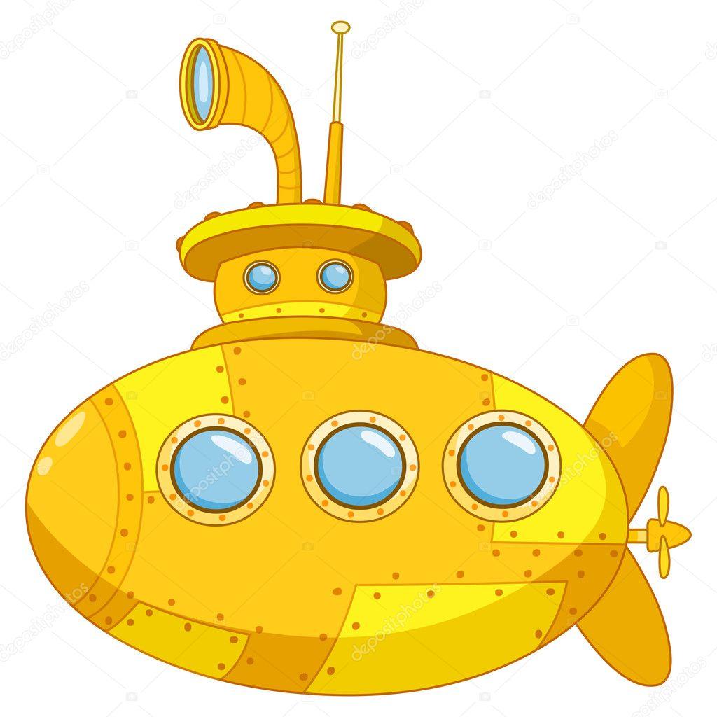 Risultati immagini per battello yellow submarine disegno